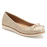 Croft & Barrow® Women's Ortholite Perforated Ballet Flats