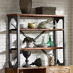 INK+IVY Lancaster Industrial Wood Bookshelf