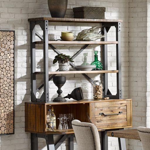 INK+IVY Lancaster Industrial Wood Bookshelf