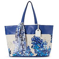 REED Market Tote with Scarf