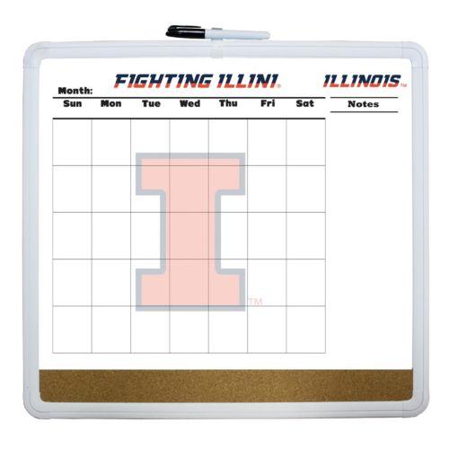 Illinois Fighting Illini Dry Erase Cork Board Calendar
