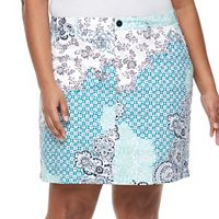 Plus Size Croft & Barrow® 5-Pocket Essential Floral Skort
