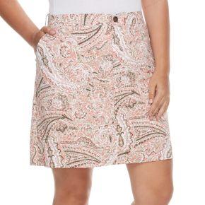 Plus Size Croft & Barrow® 5-Pocket Essential Floral Skort
