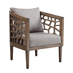 INK+IVY Crackle Contemporary Cutout Arm Chair