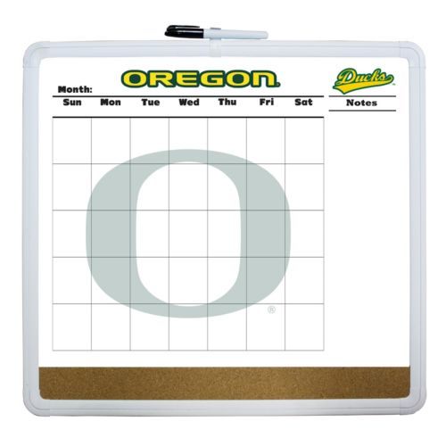 Oregon Ducks Dry Erase Cork Board Calendar