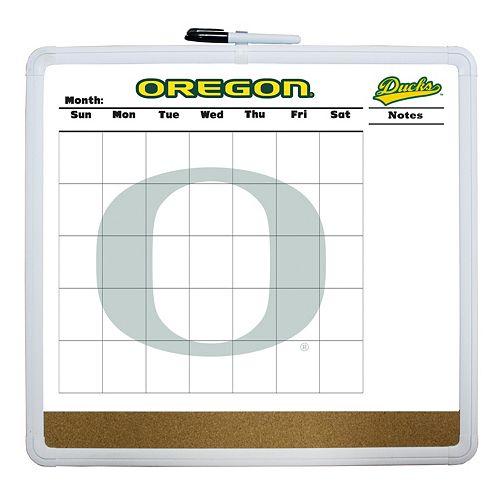Oregon Ducks Dry Erase Cork Board Calendar