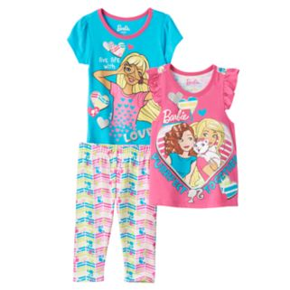 "Toddler Girl Barbie ""Live Life with Love"" Tees & Leggings Set"