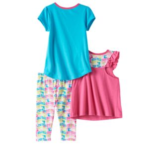 "Toddler Girl Barbie ""Live Life with Love"" Tees & Leggings Set"