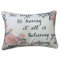 ''The Secret to Having it All'' Oblong Throw Pillow