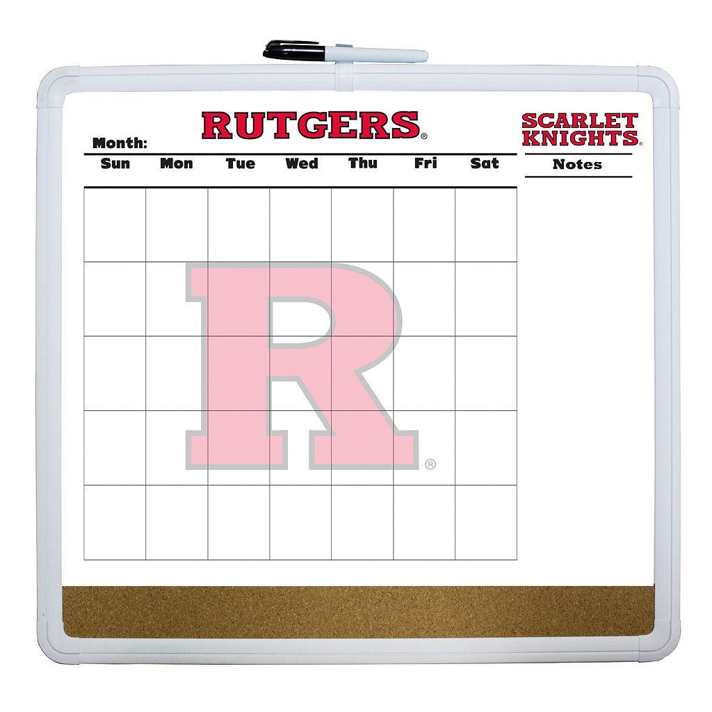 Rutgers Scarlet Knights Dry Erase Cork Board Calendar