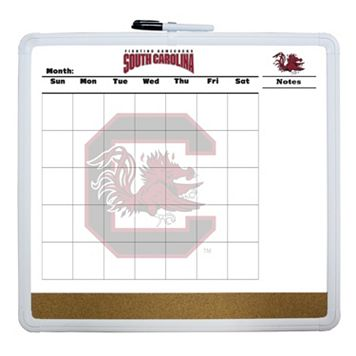 South Carolina Gamecocks Dry Erase Cork Board Calendar