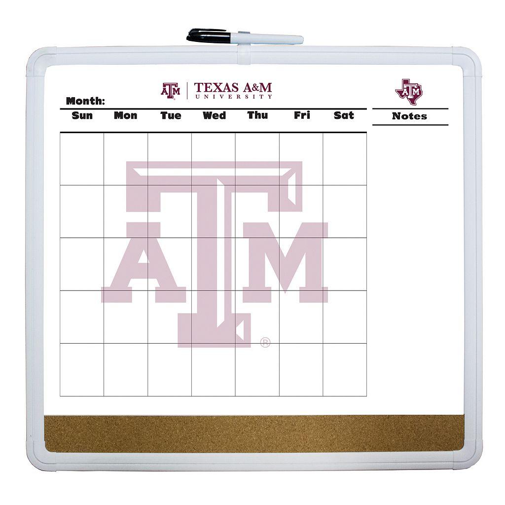Texas A&M Aggies Dry Erase Cork Board Calendar