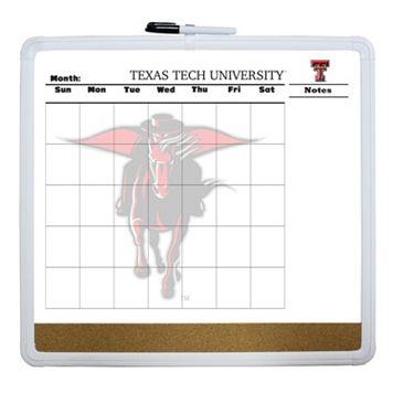 Texas Tech Red Raiders Dry Erase Cork Board Calendar