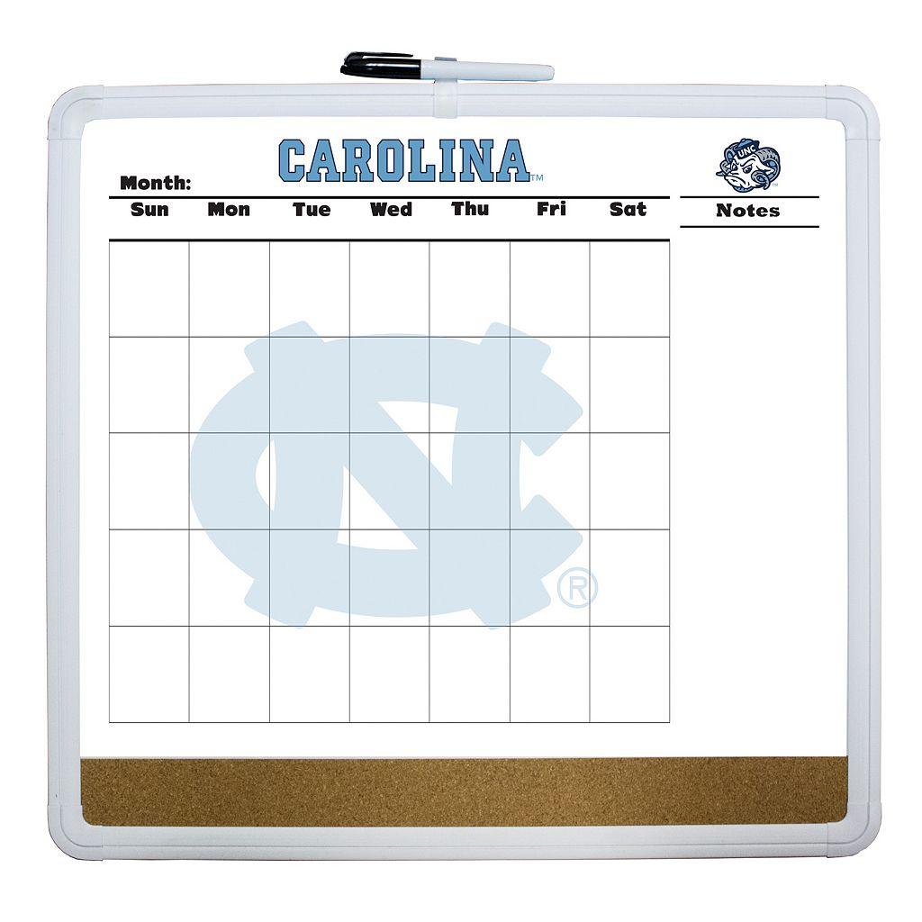 North Carolina Tar Heels Dry Erase Cork Board Calendar