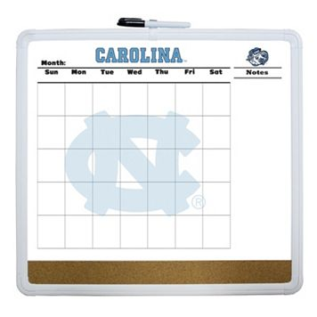 North Carolina Tar Heels Dry Erase Cork Board Calendar