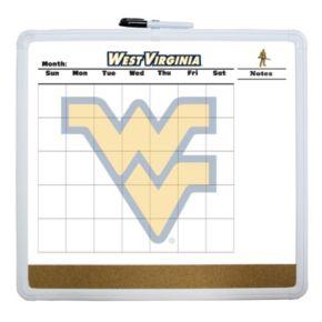 West Virginia Mountaineers Dry Erase Cork Board Calendar