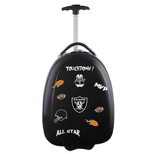 Youth Oakland Raiders Hardshell Wheeled Luggage Pod