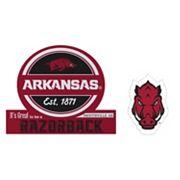 Arkansas Razorbacks Jumbo Tailgate & Mascot Peel & Stick Decal Set