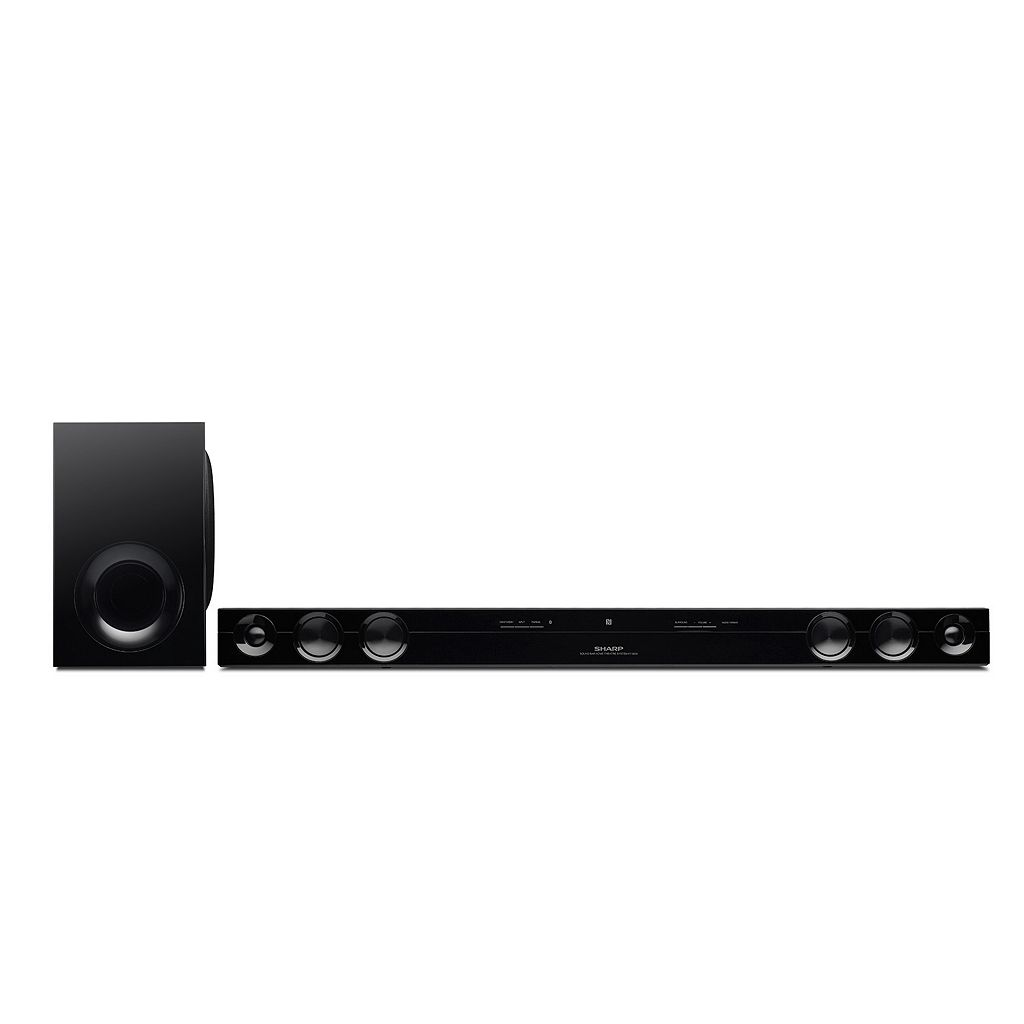 Sharp 120W 2.1-Channel Bluetooth Soundbar with Wired Subwoofer (HTSB38)