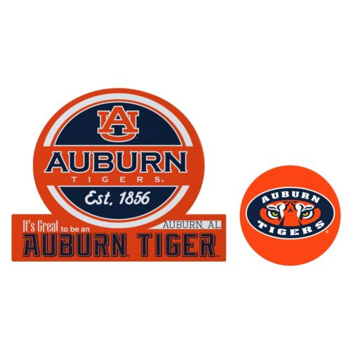 Auburn Tigers Jumbo Tailgate & Mascot Peel & Stick Decal Set