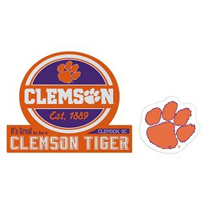 Clemson Tigers Jumbo Tailgate & Mascot Peel & Stick Decal Set