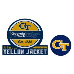 Georgia Tech Yellow Jackets Jumbo Tailgate & Mascot Peel & Stick Decal Set