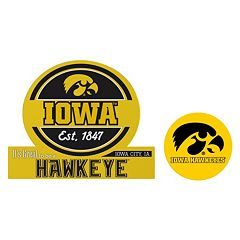 Iowa Hawkeyes Jumbo Tailgate & Mascot Peel & Stick Decal Set
