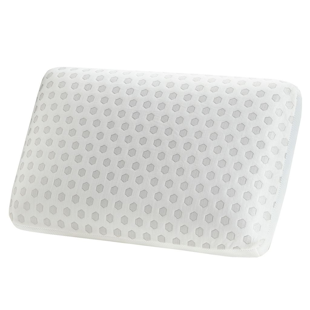 Flexapedic by Sleep Philosophy Gel Memory Foam Pillow with Cooling Cover