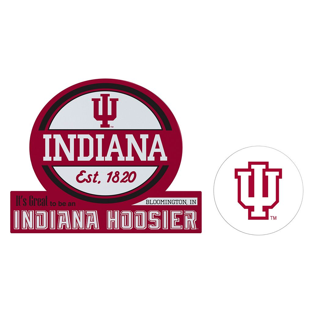 Indiana Hoosiers Jumbo Tailgate & Mascot Peel & Stick Decal Set