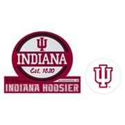 Indiana Hoosiers Jumbo Tailgate & Mascot Peel & Stick Decal Set