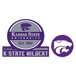 Kansas State Wildcats Jumbo Tailgate & Mascot Peel & Stick Decal Set
