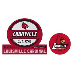 Louisville Cardinals Jumbo Tailgate & Mascot Peel & Stick Decal Set