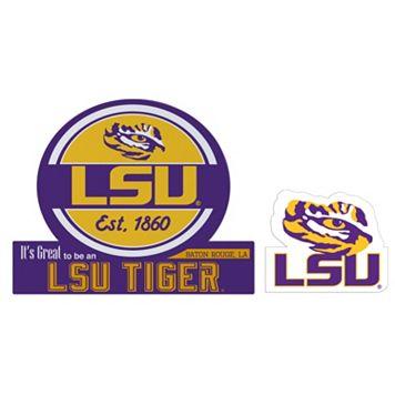 LSU Tigers Jumbo Tailgate & Mascot Peel & Stick Decal Set