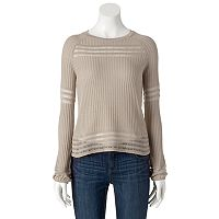 Women's Apt. 9® Eyelet Crewneck Sweater