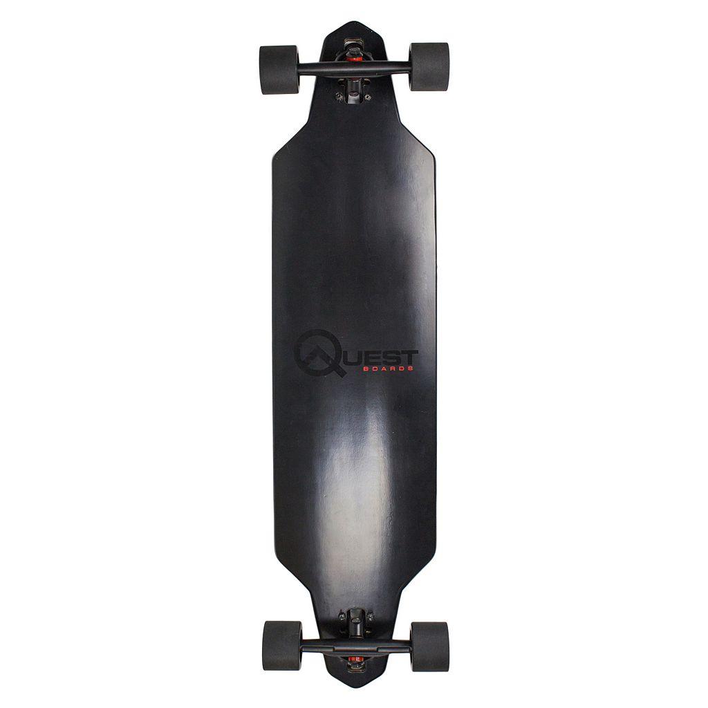 Quest Zero Dark 40-Inch Downhill Style Drop Through Performance Skateboard