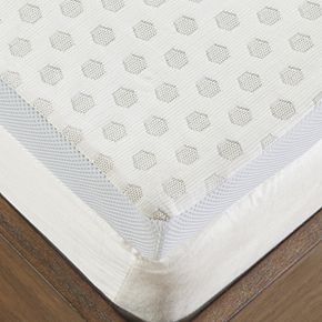 Flexapedic by Sleep Philosophy 2-Inch Gel Memory Foam Mattress Topper with Cooling Cover