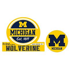 Michigan Wolverines Jumbo Tailgate & Mascot Peel & Stick Decal Set