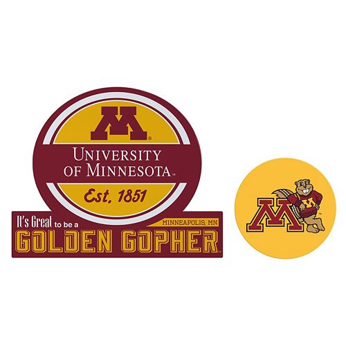 Minnesota Golden Gophers Jumbo Tailgate & Mascot Peel & Stick Decal Set