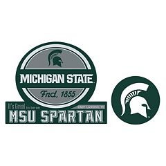 Michigan State Spartans Jumbo Tailgate & Mascot Peel & Stick Decal Set