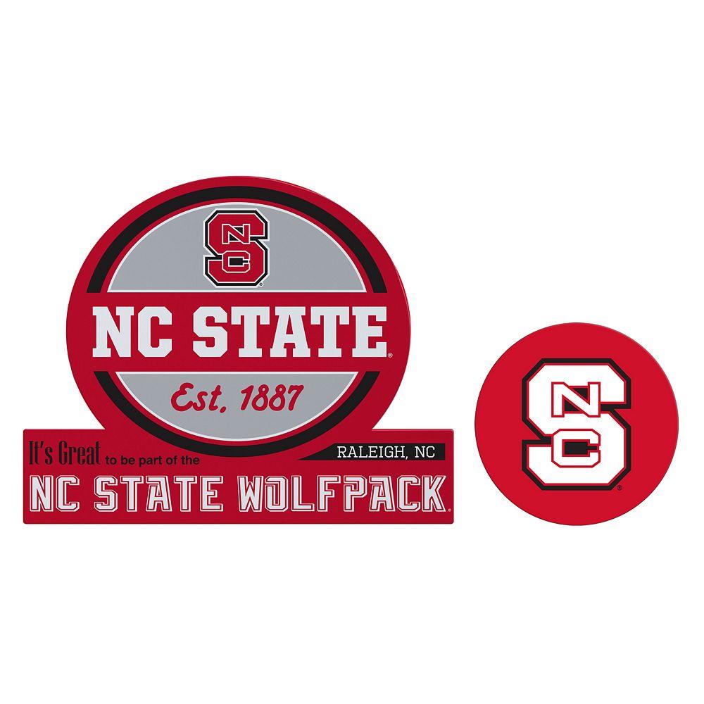 North Carolina State Wolfpack Jumbo Tailgate & Mascot Peel & Stick Decal Set