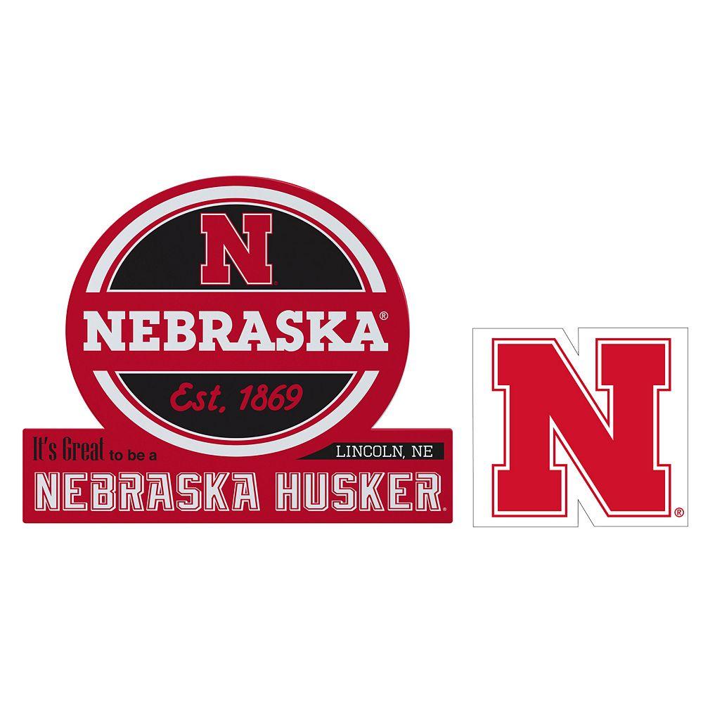 Nebraska Cornhuskers Jumbo Tailgate & Mascot Peel & Stick Decal Set