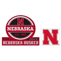 Nebraska Cornhuskers Jumbo Tailgate & Mascot Peel & Stick Decal Set