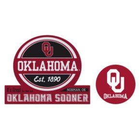 Oklahoma Sooners Jumbo Tailgate & Mascot Peel & Stick Decal Set