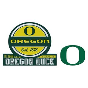 Oregon Ducks Jumbo Tailgate & Mascot Peel & Stick Decal Set
