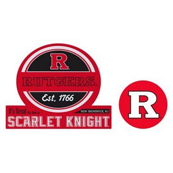 Rutgers Scarlet Knights Jumbo Tailgate & Mascot Peel & Stick Decal Set