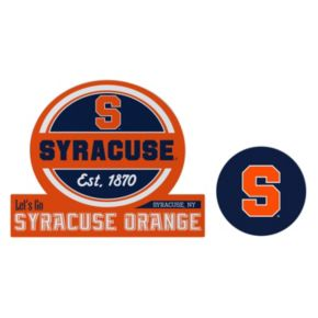 Syracuse Orange Jumbo Tailgate & Mascot Peel & Stick Decal Set
