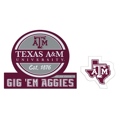 Texas A&M Aggies Jumbo Tailgate & Mascot Peel & Stick Decal Set
