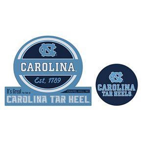 North Carolina Tar Heels Jumbo Tailgate & Mascot Peel & Stick Decal Set