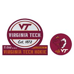 Virginia Tech Hokies Jumbo Tailgate & Mascot Peel & Stick Decal Set