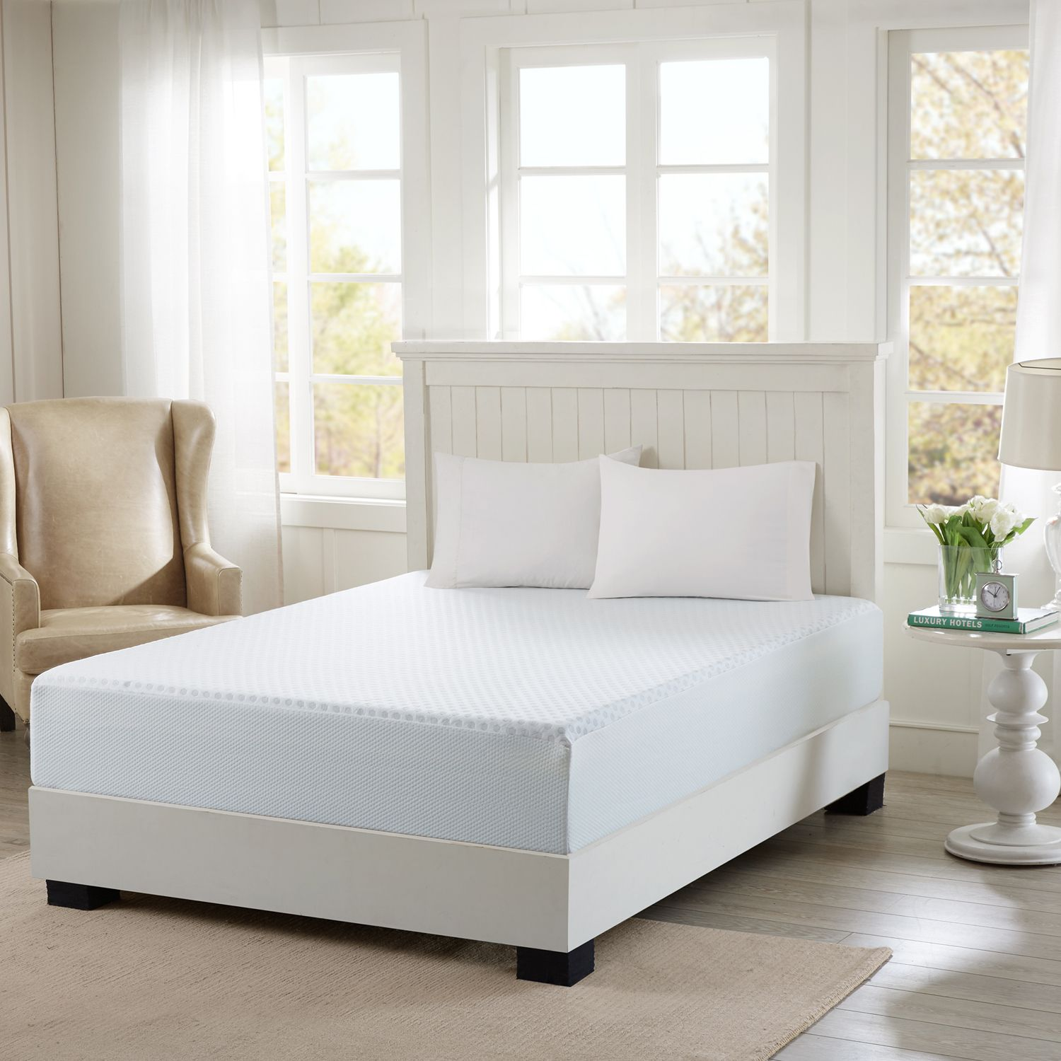 Perfect Flexapedic by Sleep Philosophy Inch Gel Memory Foam Mattress with Cooling Cover